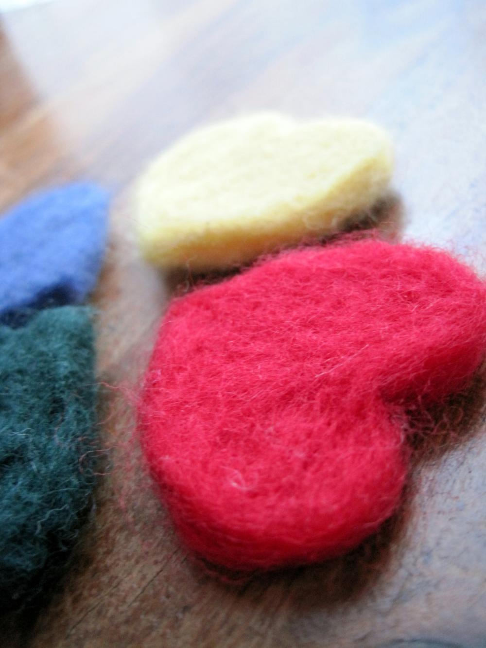 Beautifully soft merino hearts x5