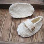 White Baby Shoes - Merino and Silk ..