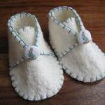Baby Booties - Merino and Silk - You Choose Colour - Boy / Girl